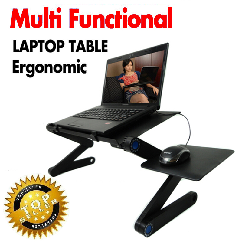 8aa560b0b890 Adjustable Foldable Lap-desk Ergonomics for laptop notebook sofa bed