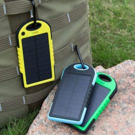 Solar Charged Waterproof Power Bank With Dual-USB