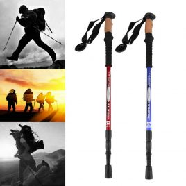 Aluminum Alloy Telescopic Ultra-light Adjustable Hiking Walking Trekking Pole Stick