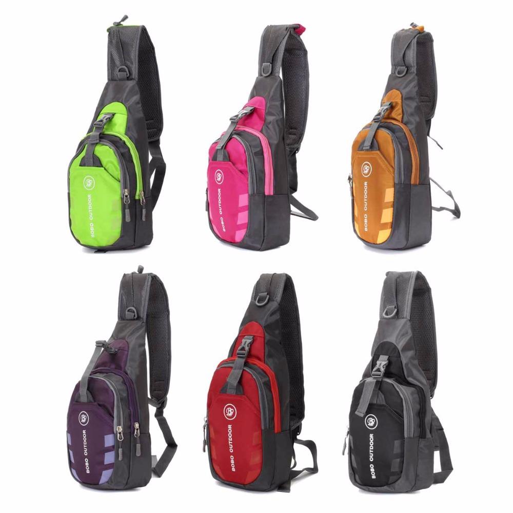 Unisex Nylon Chest Back Pack Crossbody Shoulder Bag Men Women Diagonal Package