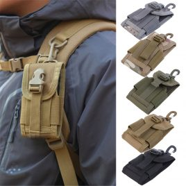 New Universal Travel Kit Hook Pouch Case Tactical Bag for Mobile Phone