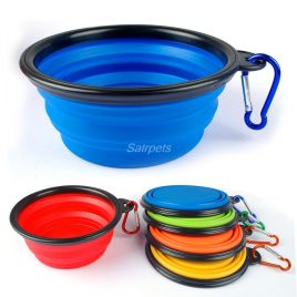 Silicone Collapsible Feeder Bowls For Dog Cat Portable For Puppy Pet Travel