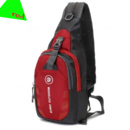 Outdoor Men Women Crossbody Shoulder Bag Unisex Nylon Chest Pack for Sport Hiking