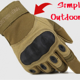 Full Finger Tactical Outdoor Men's Gloves for Training Climbing Hiking Riding Protection