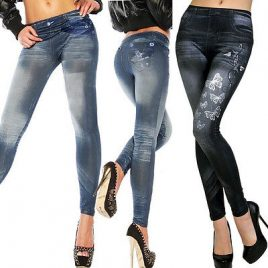 NEW Sexy Women Jean Skinny Stretchy Slim Leggings Fashion Pants