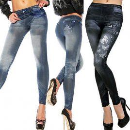 NEW Sexy Women Jean Skinny Stretchy Slim Leggings Fashion Pants