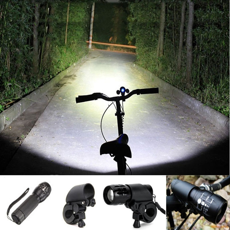 High Power 2000 lumen Cycling Bike Bicycle light Torch Zoomable LED Flashlight