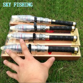 Hot  99% carbon fibre mini 1.3-2.4 m super high quality 8-12 section telescopic sea fishing rod