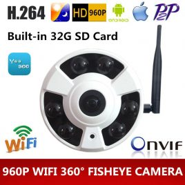360 Degree Wifi CCTV IP Security Camera- HD 960P Night Vision