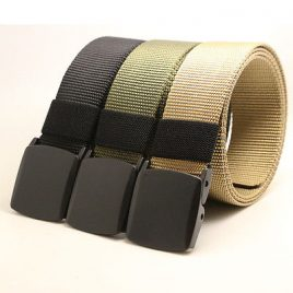 Hot Men's Fashion Outdoor Tactical Canvas Belt- Airport Detector Neutral