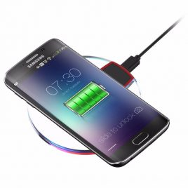 Free Shipping 100% QI Wireless Charging Pad for SAMSUNG Galaxy S6 Smartphones