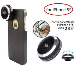 Super Fisheye Camera Lens For iPhone 6s PLUS- Detachable Screw-in Wide Angle lens With Case Cover