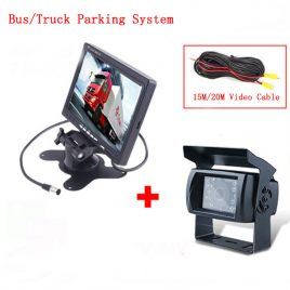 7″ LCD Monitor + CCD IR Backup Camera For Van/Truck-12-24 V