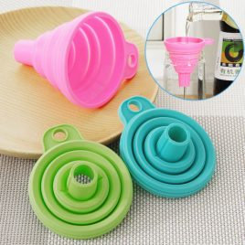 Foldable Collapsible Silicone Gel Kitchen Funnel