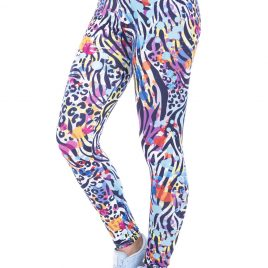Colourful High Waist Wild Printed Dots Leggings Pants for Women