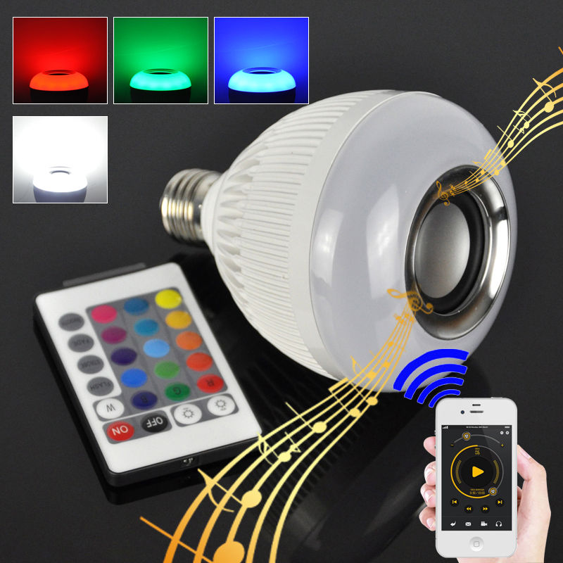 Mini 6w E27 Led Lamp Bluetooth Speaker Bulb Smart Light Remote Control Music Playing Rgb Bluetooth Speaker Bulb Light Lights & Lighting Light Bulbs