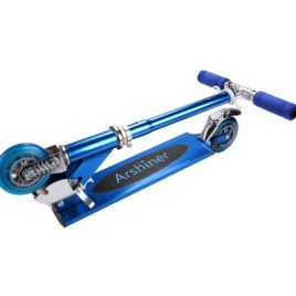 Adjustable Folding Foot Kick 2 Wheels Aluminum Scooter
