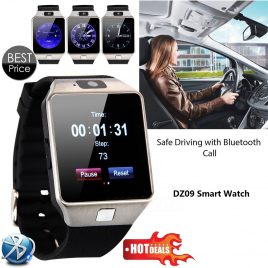 Bluetooth SIM Card Wrist Watch With Camera For Androids