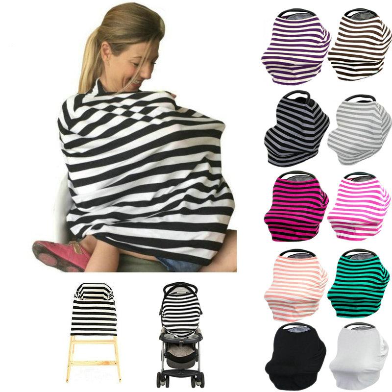 Shopping Cart. Nursing Breastfeeding Cover Stretchy Multi Use Car Seat Canopy